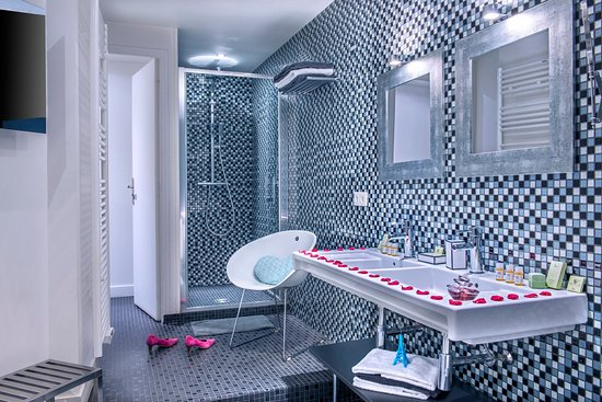 salle de bain du bo studio photo de h tel villa boh me paris tripadvisor. Black Bedroom Furniture Sets. Home Design Ideas