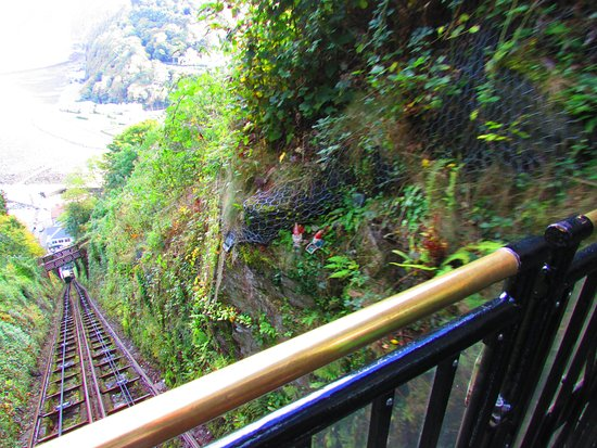 Lynmouth, UK: View from the top - spot the gnomes!