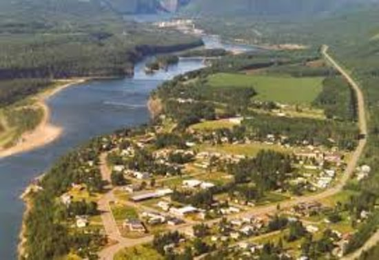 Aerial View of Hudson's Hope, BC