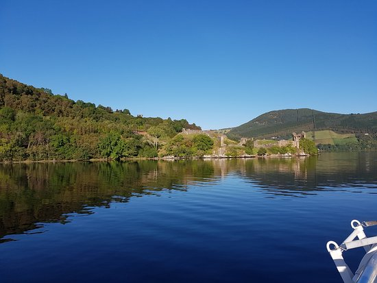 Loch Ness by Jacobite: Urquhart Castle from Loch Ness