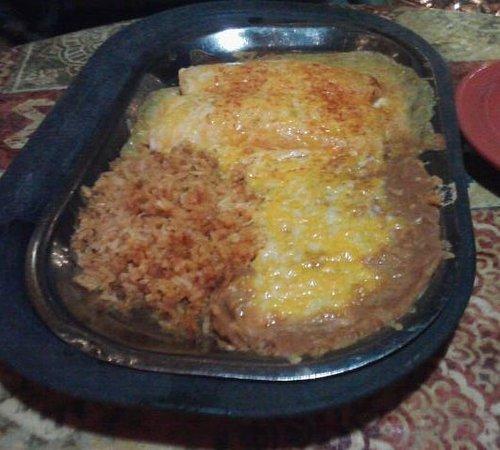 Burton, MI: Seafood Enchiladas