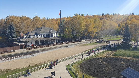 Fort Edmonton Park: view from the top