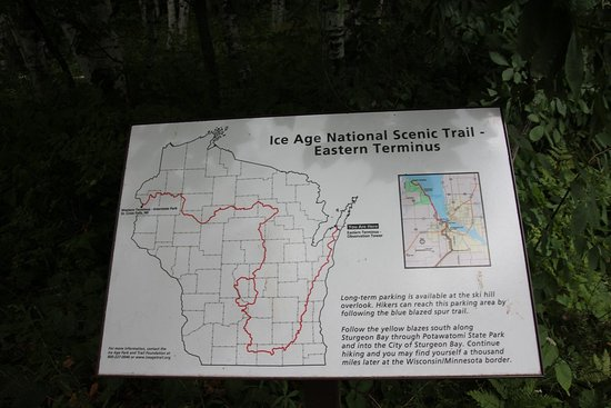 A map of the Ice Age Trail Picture of Potawatomi State Park