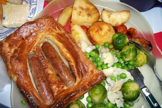 Godmanchester, UK: Toad in the hole