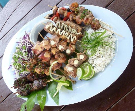 Castaway Resort: Yummy Yakitori Skewer platters