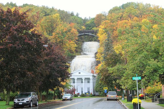 Montour Falls, NY: The view from Main St.