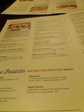 Fairfield, OH : Menu