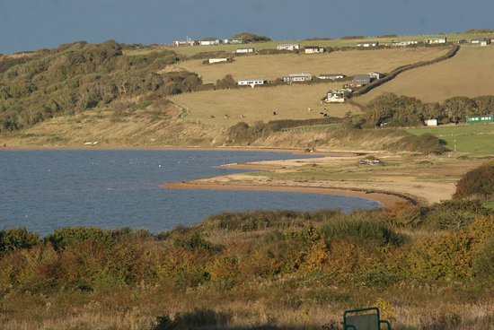 Cowes, UK: View of Thorness Bay from the park