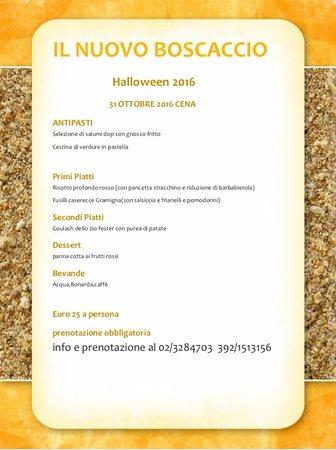 Settimo Milanese, Italia: menu halloween 2016