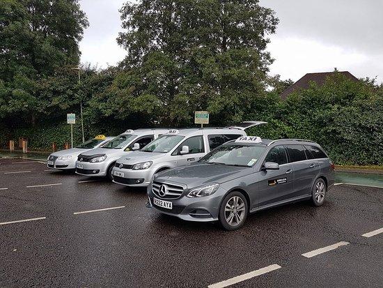Our cars at the Lyndhurst car park