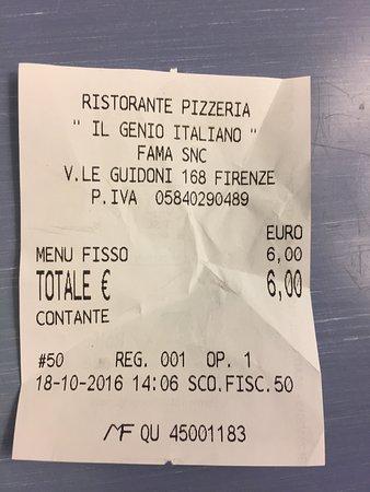 Il Genio Italiano: Scontrino