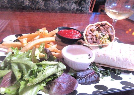 Lamb Wrap, Fries, Salad, Taverna Bistro, Sunnyvale, CA