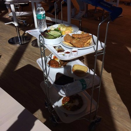ikea tray carrier to bring your food to your table