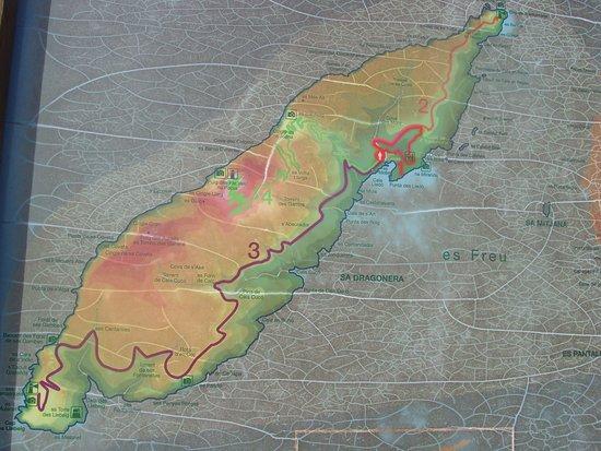 map of island Picture of Sa Dragonera National Park Majorca