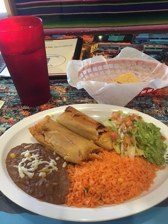 Lehigh Acres, FL: Salad and guacamole included. Choose from 3 types of tamales.