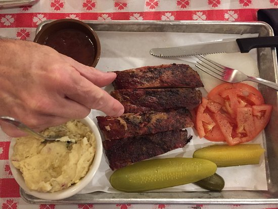 Portland, Teksas: Best ribs and potato salad ever!
