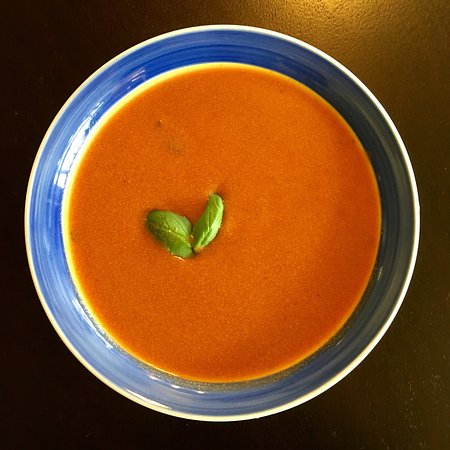 Somerset, Pensilvania: Soups stuffed pepper, tomato basil, and vegetarian vegetable.