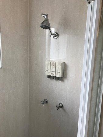 Singleton, Australia: Convenient soap and shampoo dispensers!