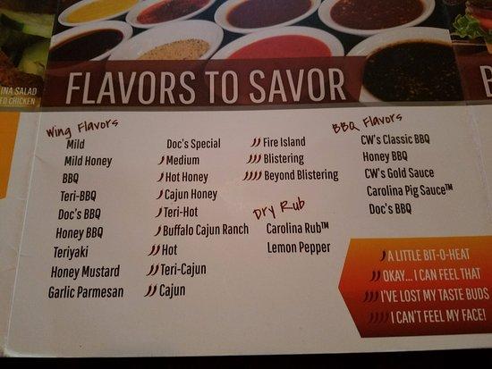 Lexington, ساوث كارولينا: Winds flavors