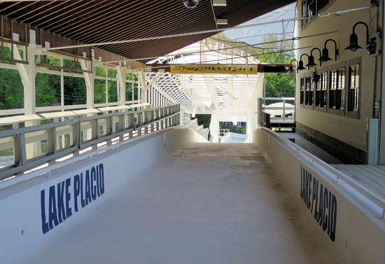 Bobsled and Luge Complex: Starting my slow walk down the bobsled run