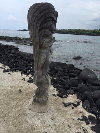Honaunau, Hawái: wood totem