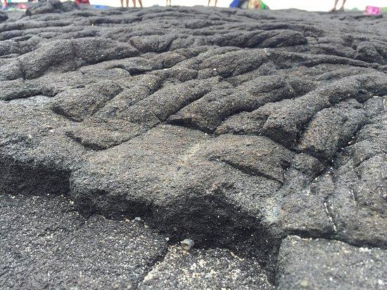 Honaunau, Hawái: lava rock