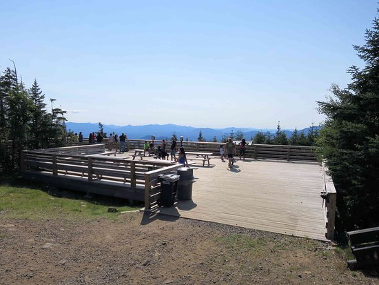 Wilmington, NY: Viewing deck at the top of LIttle WhiteFace Mountain