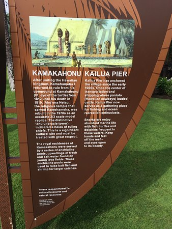 Kamakahonu: another historic marker at the beach