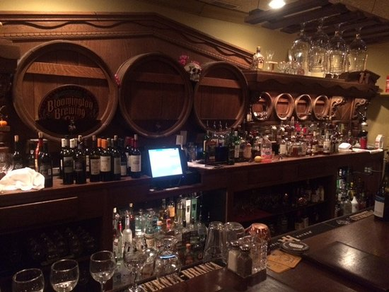 Zionsville, IN: This is the bar that was preserved from the 1800s in the TAP room.