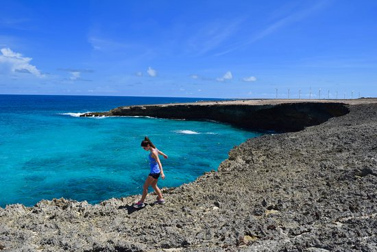 Santa Cruz, Aruba: Cliff by Boca Prins beach
