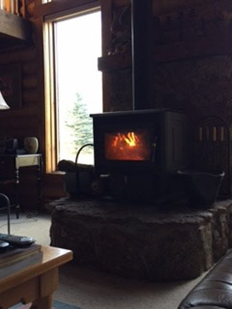 Wilson, WY: Cozy fire!