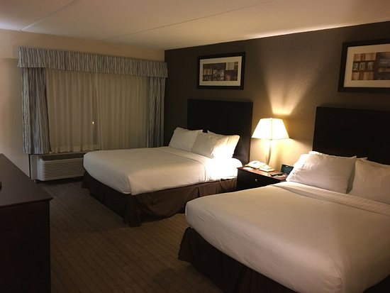 Holiday Inn Berkshires: Spacious, clean accommodations & a decent view of the Berkshire foliage from our room, very happ