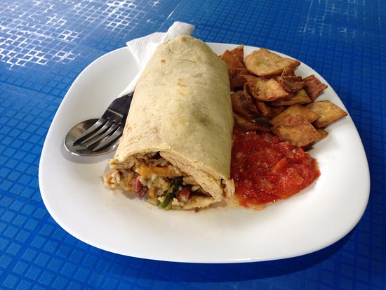 Fort Portal, Uganda: bigodi burrito, chips and salsa