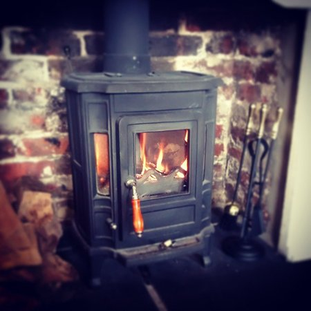 Ringwood, UK: Real log fire