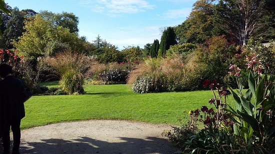 Haverfordwest, UK: Walled garden in October 2016