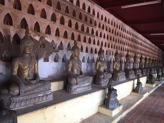 Vientiane, Laos: A lovely temple, easily accessible on foot, currently undergoing much needed restoration.