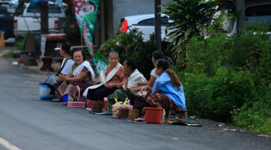 My Dream Boutique Resort: Locals awaiting the monks