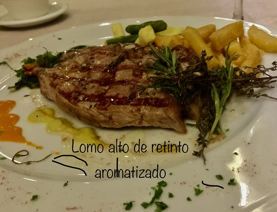 Restaurante La Toja : Lomo alto de retinto aromatizado