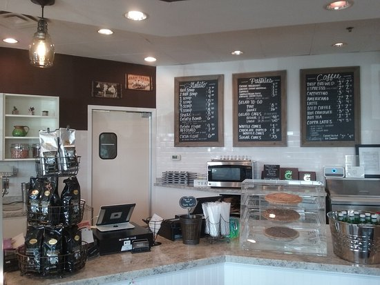 Westerville, OH: Menu and counter