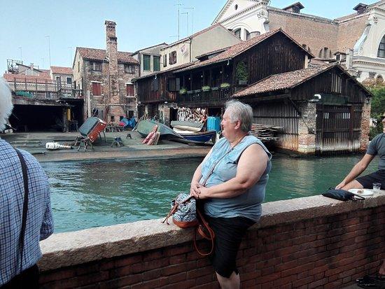 Squero di San Trovaso: Blick von der Fondamente Nani auf die Werft