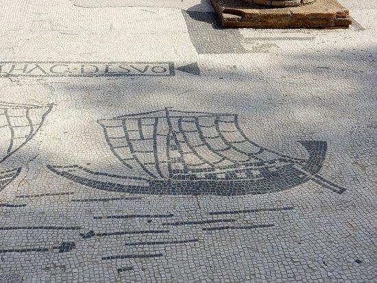 Ostia Antica, Italia: mosaico