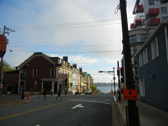 The Halliburton: Looking down the street to the harbour