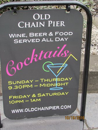 old chain pier cocktails for the guys and girls