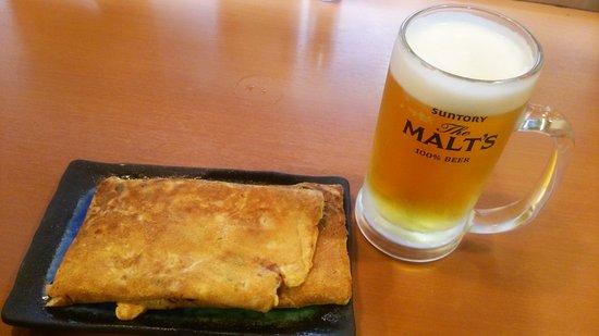 Toyonaka, ญี่ปุ่น: イカ焼きとビール