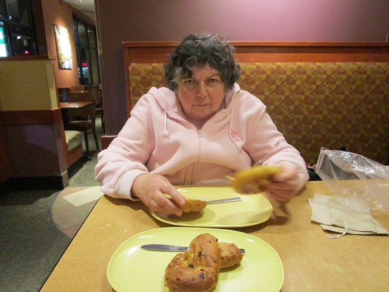 Seekonk, MA: That is me eating our bagels.