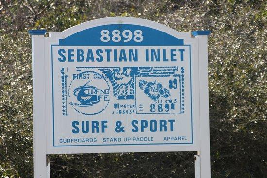 Melbourne Beach, فلوريدا: Store Sign
