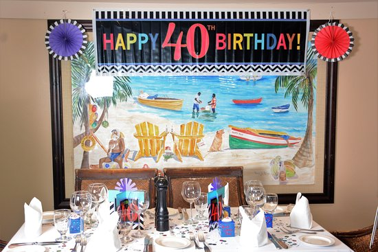 Anglers I Supplied The 40th Birthday Decorations But Everything Else Belongs To Restaurant