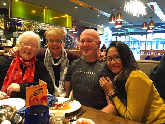 Happy Family at Alfredo's, Lisburn Square (Fully satisfied/satiated).