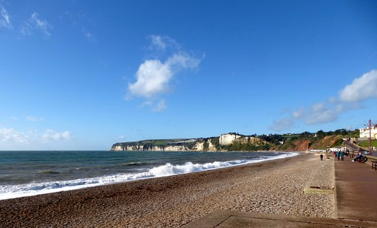 The sea front at Seaton