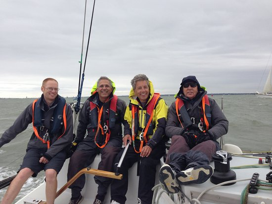 Gosport, UK: The crew on our day sailing in early September